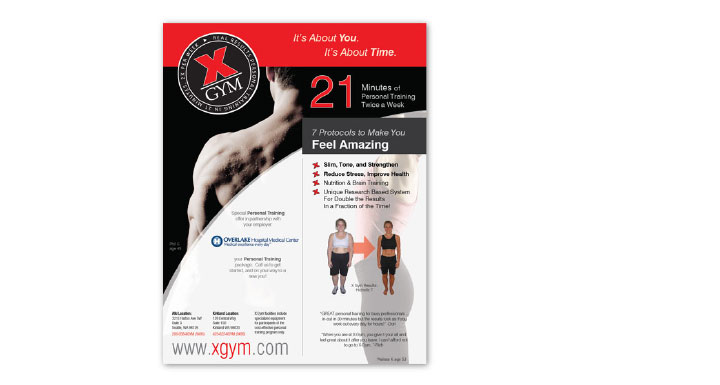 x gym corporate membership employee flyer